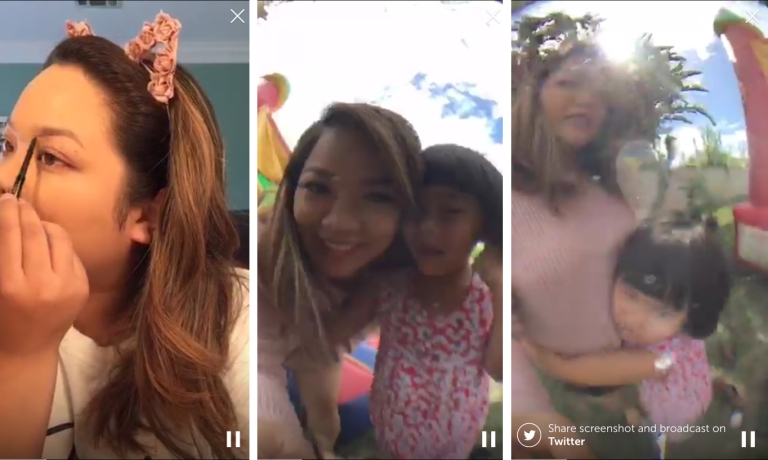 Some screenshots from my live broadcast!