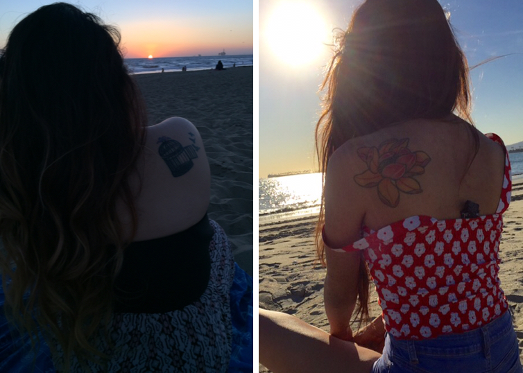 (Left: my tattoo & Right: Diana's tattoo)